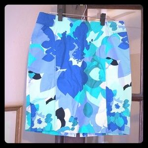 New York and Company flowered pencil skirt